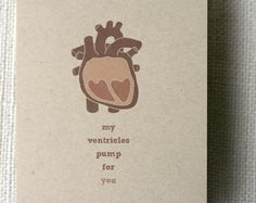 Great valentine card for a doctor/nurse practitioner couple like mine :)