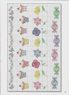 Cross-stitch Cute Block Designs for Baby, part color chart on part Gallery. Cupcake Cross Stitch, Tiny Cross Stitch, Cross Stitch Kitchen, Cross Stitch Borders, Cross Stitch Charts, Cross Stitch Designs, Cross Stitching, Cross Stitch Patterns, Diy Embroidery