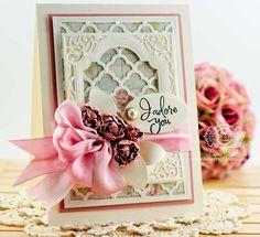 Card Making Ideas by Becca Feeken using Spellbinders Grateful Lattice