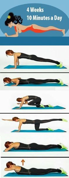 Transform Your Body in Just 4 Weeks With These Four Simple Exercises - Magical Useful Tips