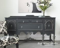 Glamorize a sideboard with a sophisticated shade of paint.