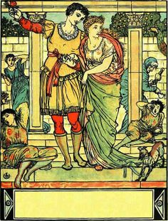 The Sleeping Beauty    Composed by Walter Crane (1845-1915)  Published in 1911.
