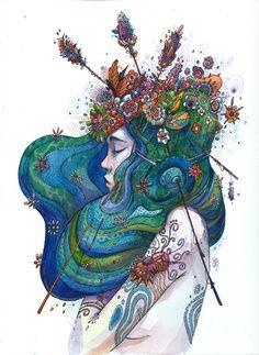 "lohrien: "" Illustrations by Moon behance l tumblr l website l fb l shop """