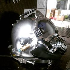 Brand new Kirby Morgan 37 stainless steel looks wild.... #kirbymorgan #dive #sexysteel #subsea #offshorelife by keagonprinsloo