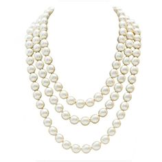 Pre-owned 1980s Chanel Long Pearl Necklace with Red Stone Clasp ($3,000) ❤ liked on Polyvore featuring jewelry, necklaces, accessories, collane, multi-strand necklaces, stone necklace, white pearl necklace, 80s fashion, long pearl necklace and long red necklace