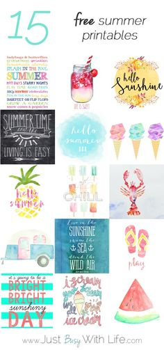 15 Free Summer Printables   Just Busy With Life