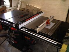 Retrofit Benchdog ProMax to Sawstop ICS - Router Table on Table Saw Table Saw Workbench, Router Table, Tool Room, Torsion Box, Garage Workshop, Room Organization, Woodworking Shop, Tools, Projects