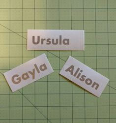 Personalized Name Decal  - 109F by DesignsByLaurieann on Etsy