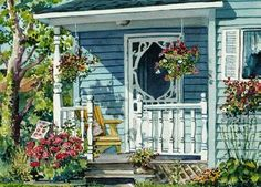"""""""Charlotte's Porch"""" by Joy Laking"""