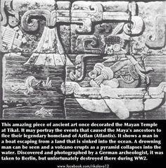 The sinking of Aztlan aka Atlantis