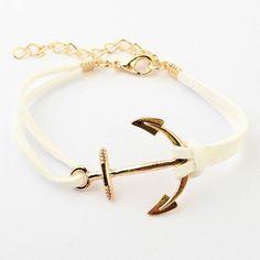 Leather Anchor Bracelet Unisex