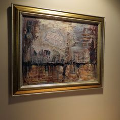 """Abstract Art """"Old World"""" 16"""" x 20"""" Mixed Media on Canvas Board $225.00 (including frame) Website:  www.facebook.com/fayes.art"""