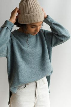 Stylish Winter Outfits, Winter Looks, Topaz, Streetwear, What To Wear, Dress Up, Crew Neck, Pullover, Knitting