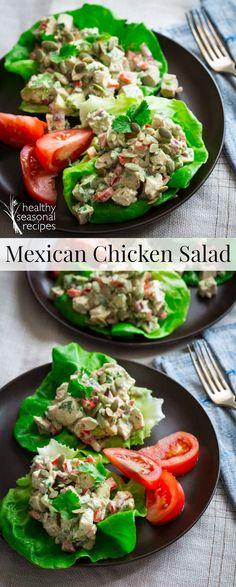 mexican chicken salad lettuce cups - Healthy Seasonal Recipes