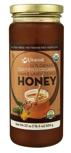 Vitacost Certified Organic Raw & Unfiltered Honey U.S. Grade A - Non GMO