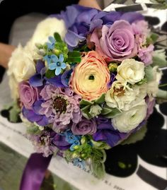 Love the different purple flowers in this!
