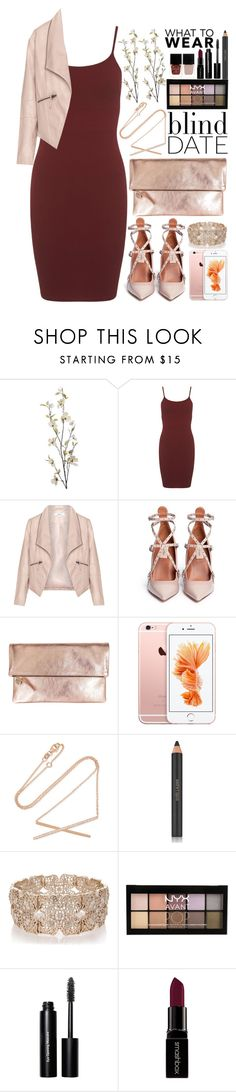 """What to Wear: Blind Date"" by saramsilva ❤ liked on Polyvore featuring Pier 1 Imports, Miss Selfridge, Zizzi, Valentino, Clare V., Carbon & Hyde, Estée Lauder, Oasis, NYX and Bobbi Brown Cosmetics"