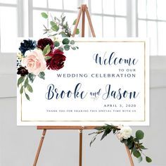 #weddingwelcomesign #welcomeweddingsign #welcomesign #weddingsign #wedding #weddingsigns #floralwelcomesign #weddingdécor #weddingposter #weddingreception #printable #sign #signs #diywedding #boho #vintage #classic #burgundy #navy #floral #personalized #printable