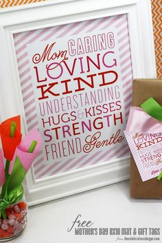 FREE Mother's Day Subway Art Print and Gift Tags; personalize in file and print!   thecelebrationshoppe.com