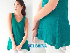 Простое вязание от Berroco: удлинённый топ спицами | Блог elisheva.ru