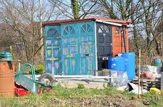 allotment shed of many doors