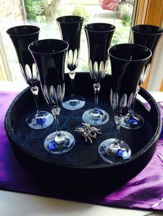 Gorgeous Witchy Champagne Flutes on sale now~! set of 6!