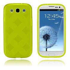 Grid (Keltainen) Samsung Galaxy S3 Suojakotelo