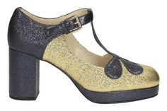 Womens Smart Shoes - Orla Abigail in Gold Sparkle Leather from Clarks shoes Quirky Shoes, Orla Kiely, Gold Sparkle, Clarks, Heels, Leather, Women, Style, Fashion