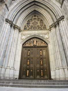 St. Patrick's Cathedral - New York City, New York - Doors designed by Charles D. Maginnis - Venerable Kateri Tekakwitha & St. Elizabeth Ann Seton