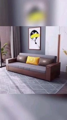 Sofa Bed Design, Living Room Sofa Design, Room Design Bedroom, Bedroom Furniture Design, Home Room Design, Home Decor Furniture, Cool Furniture, Sofa Come Bed Furniture, Sofa Beds