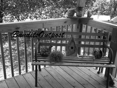 Black and white picture of a gorgous front porch by BanditsOutpost, $3.00