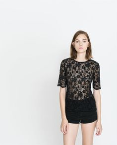 b2bfb9c172f Lace Top With Back Zip on shopstyle.com