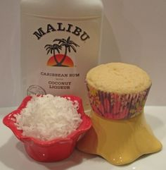 Coconut Rum Cupcakes  These sound really good.