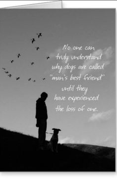 no one can truly understand why dogs are called Mans Best Friend until they have experienced the loss of one. All Dogs, I Love Dogs, Puppy Love, Mans Best Friend, Best Friends, Dog Best Friend Quotes, Miss My Dog, Pet Loss Grief, Dog Poems