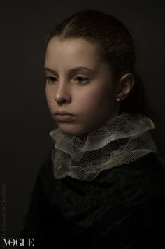 Golden age portrait. Photographer Rudi Huisman is creating portraits inspired and based on the golden age master painters.