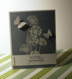 Stamps: Stampendous Agapanthus, Verve Stamps Forever in our Hearts Paper: PTI White, Bordering Blue, Vellum Ink: Bordering Blue, Versa Mark Accessories: MS butterfly punches, flat backed pearls, white detail embossing powder