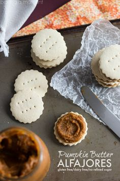 Pumpkin Butter Alfajores (gluten-free, dairy-free, and no refined sugar) - THEY HAVE 2 EGG YOLKS IN THEM SO MAYBE NOT???