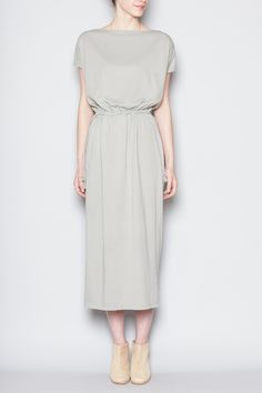 Totokaelo Black Crane Long Dress (Sage)