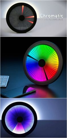 Chromatic LED Clock. Mind blowing and mesmerizing. #affiliate #clock