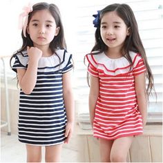 Aliexpress.com : Buy Free Shipping New Girls Ruffles Stripe Dress Baby Children's Casual Dresses from Reliable Dresses suppliers on Kids Fas...