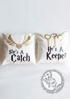 Harry Potter Catch and Keeper Pillow Case Set – White Rabbit Vinyl | #HarryPotter #HP #Hogwarts