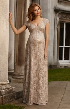 Carmen Maternity Gown Gold Rush by Tiffany Rose