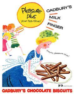 1959 Cadbury's Milk Finger ad | Flickr - Photo Sharing!
