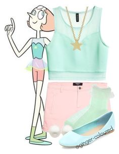"""Pearl from Steven Universe"" by ginger-coloured ❤ liked on Polyvore featuring H&M, MANGO and Reeds Jewelers"