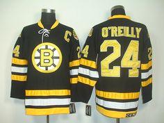Boston Bruins 24 Terry OREILLY CCM Vintage Hockey Jersey Black
