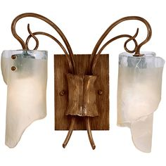 Give your home or office a new look with this attractive fixture. This light features a hammered ore finish in a unique design. Setting: Indoor Fixture finish: Hammered ore Shades: Brown tint ice glas