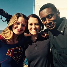 On location with Melissa Benoist, and David Harewood. #Supergirl Behind the scenes