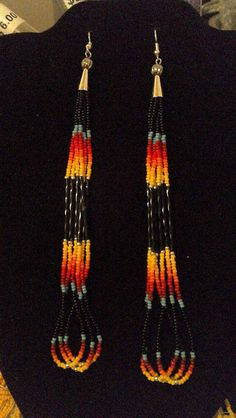 Native American dangly earrings. by Pennylilly on Etsy