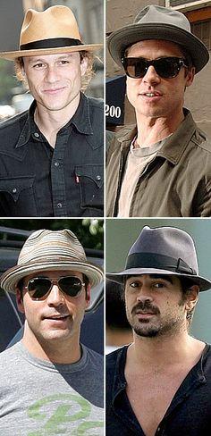 diferentes chapéus masculinos Luvas cfb219c65d8