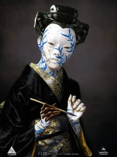A significant number of the design iterations that explored the internal and surface aesthetics of the Geisha, featured aspects that were more reminiscent of anatomy than machinery. Arte Cyberpunk, Cyberpunk 2077, Character Inspiration, Character Art, Character Design, Tatoo Geisha, Science Fiction, 3d Art, Workshop Design